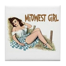 Midwest Girl Tile Coaster