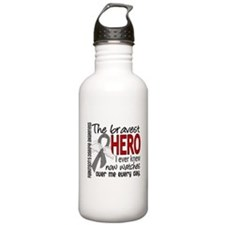 Bravest Hero I Knew Parkinsons Water Bottle