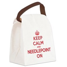 Keep Calm Needlepoint Canvas Lunch Bag