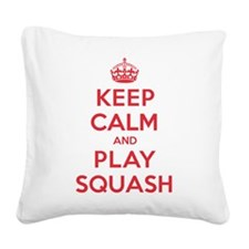 K C Play Squash Square Canvas Pillow