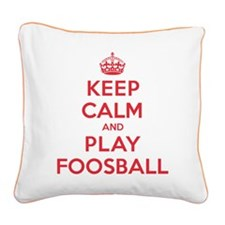 K C Play Foosball Square Canvas Pillow