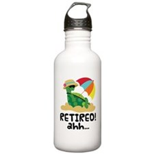 Cute Retired Turtle Sports Water Bottle