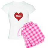 Heart His and Hers Pajamas pajamas