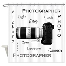 Photographer-Definitions-DSLR.png Shower Curtain