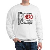 Bravest Hero I Knew Brain Cancer Sweatshirt