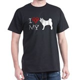 Norwegian Elkhound Black T-Shirt