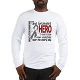 Bravest Hero I Knew Brain Tumor Long Sleeve T-Shir