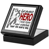 Bravest Hero I Knew Brain Tumor Keepsake Box