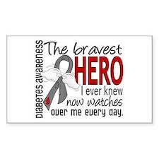 Bravest Hero I Knew Diabetes Decal