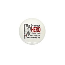 Bravest Hero I Knew Diabetes Mini Button (10 pack)