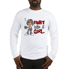 Fight Like a Girl 42.8 Diabetes Long Sleeve T-Shir
