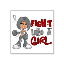 Fight Like a Girl 42.8 Diabetes Square Sticker 3""