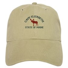 Baseball Cape Elizabeth ME - Moose Design. Baseball Cap