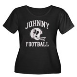 Johnny Football Women's Plus Size Scoop Neck Dark