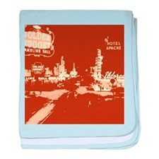 Downtown Las Vegas Pop Art baby blanket