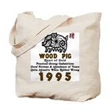 Wood Pig 1995 Tote Bag