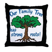 Our Family Tree Throw Pillow