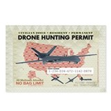Drone Hunting Permit Postcards (Package of 8)