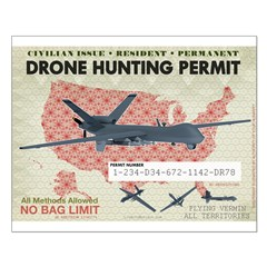 Drone Hunting Permit Posters