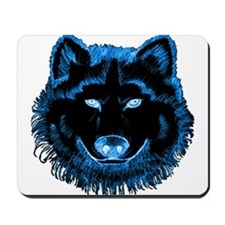 Blue Wolf Mousepad
