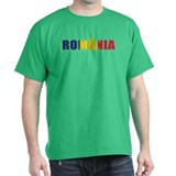 Romania Black T-Shirt