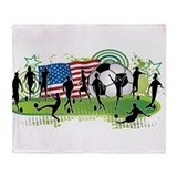 USA Women Soccer Throw Blanket