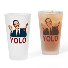 Obama YOLO Drinking Glass