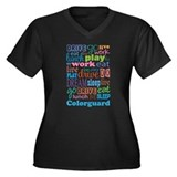 Colorguard Gift Women's Plus Size V-Neck Dark T-Sh