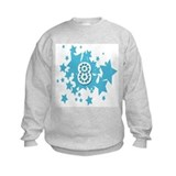 8 birthday stars Sweatshirt