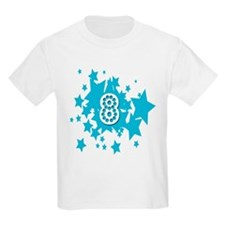 8 birthday stars Kids T-Shirt