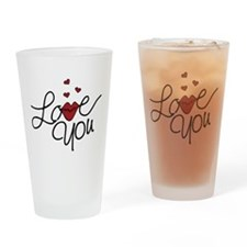 Love You Drinking Glass