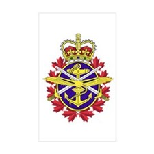 Canadian Forces Sticker (Rectangle 10 Pk)
