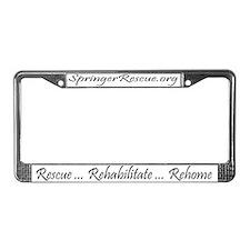 Springer Rescue License Plate Frame