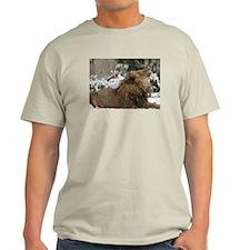 Lion in Snow Light T-Shirt