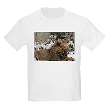 Lion in Snow Kids Light T-Shirt