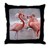 2 Flamingos Throw Pillow