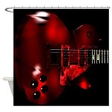 Big Red Les Paul Shower Curtain