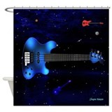 Big Blue Bass Shower Curtain