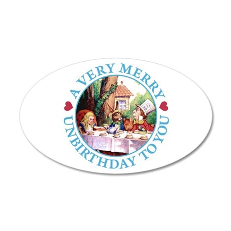 A Very Merry Unbirthday To You 20x12 Oval Wall Dec