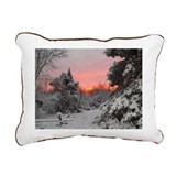 Winter Glow Rectangular Canvas Pillow