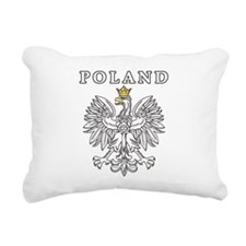 Poland Black Eagle Rectangular Canvas Pillow