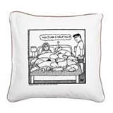 Yes? Can I Help You? Square Canvas Pillow