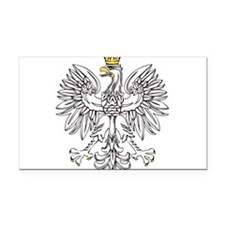Polish Eagle With Gold Crown Rectangle Car Magnet