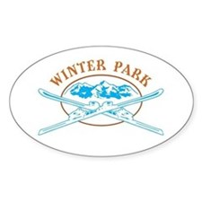 Winter Park Crossed-Skis Badge Decal