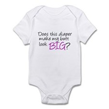 Diaper Butt (purple) Infant Creeper