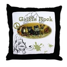 3 Griffs Rock Throw Pillow