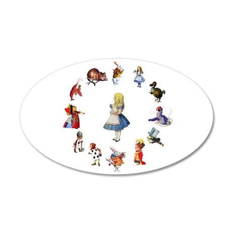 All Around Alice In Wonderland 35x21 Oval Wall Dec