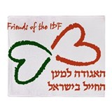 Friends of the IDF Throw Blanket