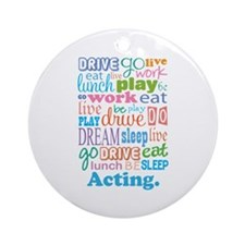 Acting Gift Ornament (Round)