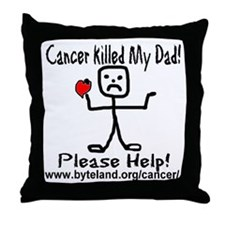 Cancer Killed My Dad Please H Throw Pillow